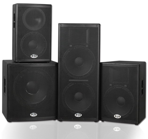 b 52 professional actpro series active speaker systems. Black Bedroom Furniture Sets. Home Design Ideas